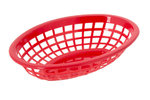 Retro tableware Basket, Oval Red