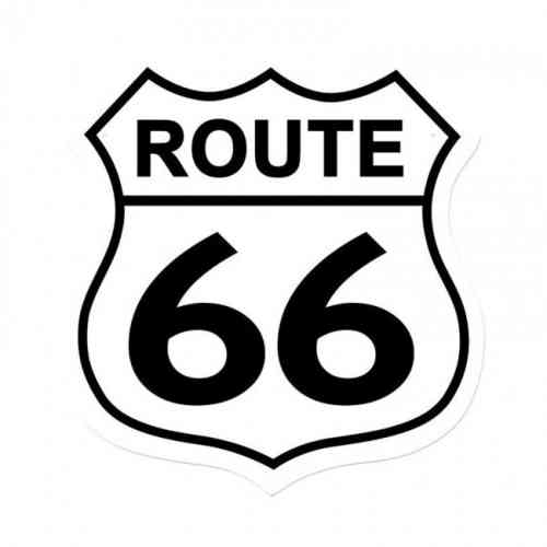 Route US 66 Shield Vintage