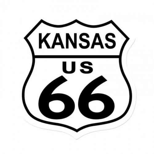 Kansas Route US 66 Shield Vintage