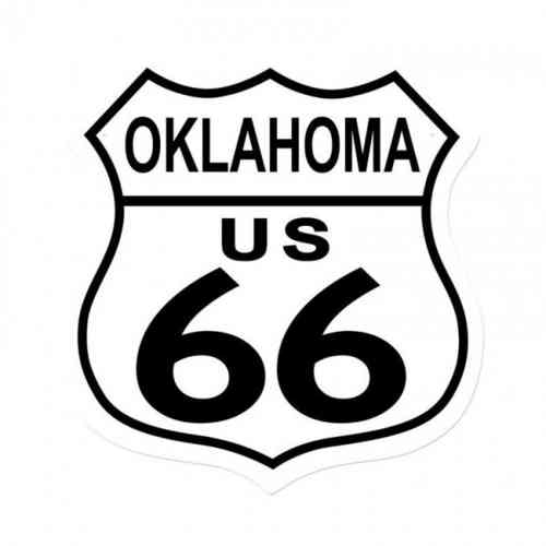 Oklahoma Route US 66 Shield Vintage