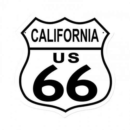 California Route US 66 Shield Vintage