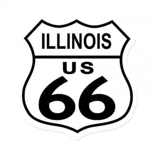 Illinois Route US 66 Shield Vintage