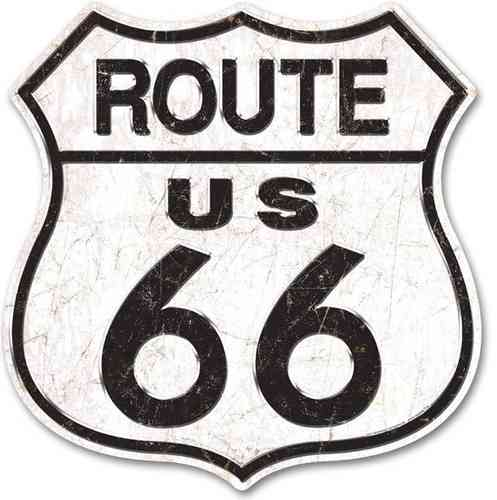 Route 66 LARGE Tin Sign