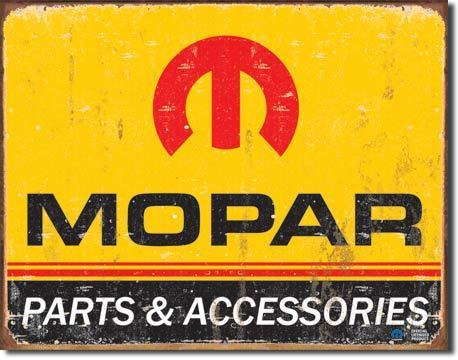Mopar Parts Tin Sign