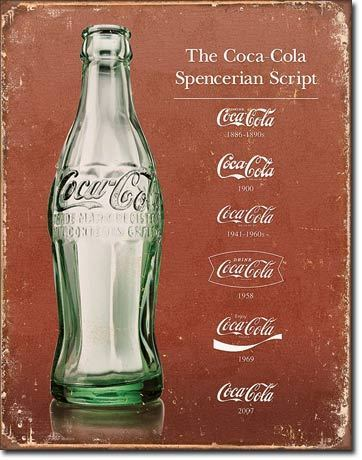 Coca Cola Bottle Tin Sign