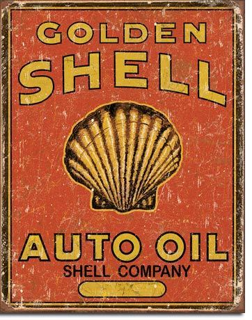 Golden Shell Tin Sign