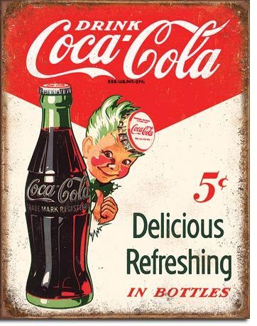 Coca Cola 5c Tin Sign