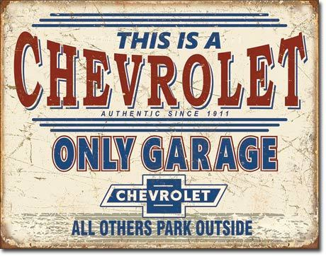 Chevrolet Garage Tin Sign
