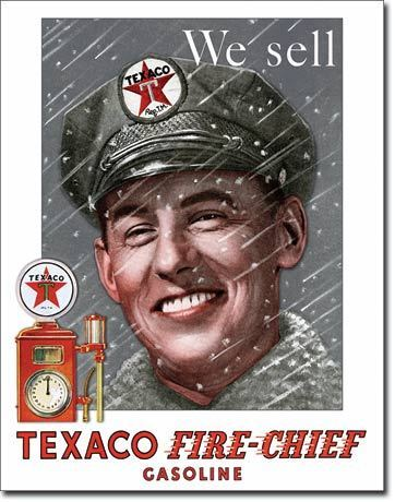 Texaco Fire-Chief Tin Sign