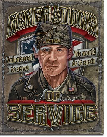 Generation of Service Tin Sign