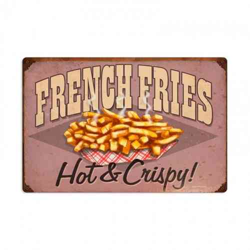 American Retro Tin Sign - French Fries