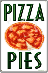 American Retro Tin Sign - Pizza Pies