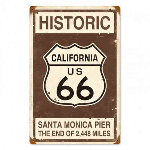 Plaque Historic Route 66 2448 Miles