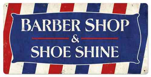 American Retro Tin Sign - Barber Shop