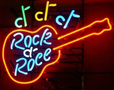 Neon Sign ROCK'N ROOL GUITAR