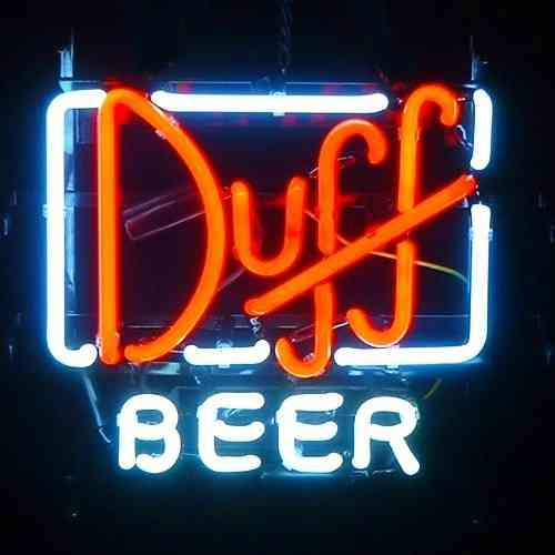 Neon Sign - DUFF BEER