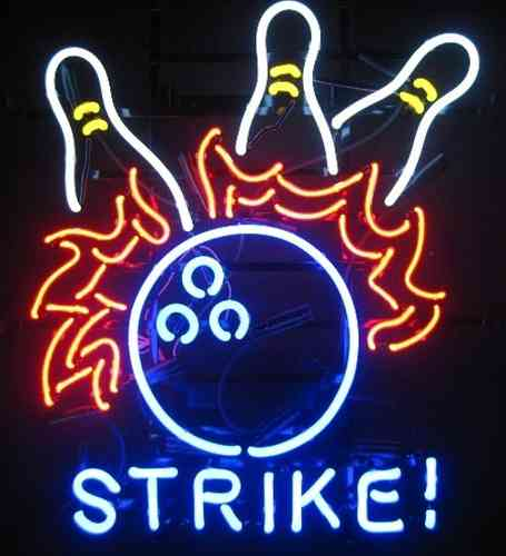 Neon Sign - STRIKE BOWLING