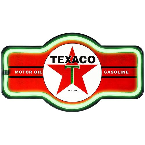 Enseigne Led Texaco Gasoline