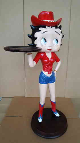 Statue résine Betty Boop Cow Girl