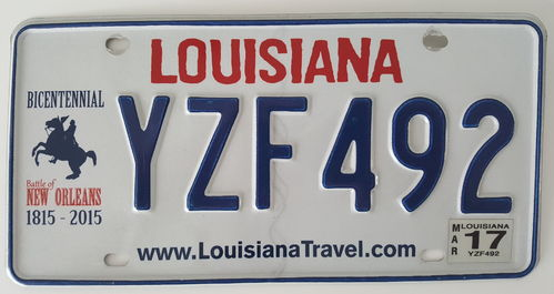 Genuine American Licence Plate - LOUISIANA Bicentennial