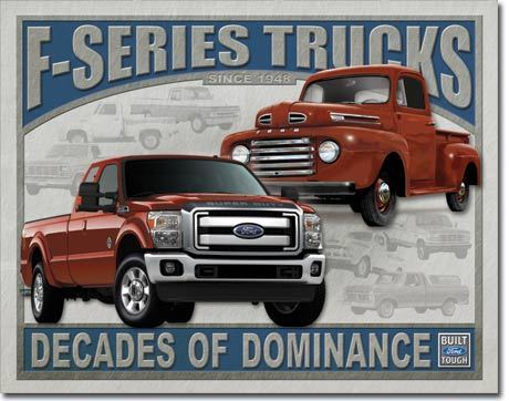 American Advertising Tin Sign - Ford Trucks