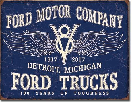 Plaque publicitaire américaine - Ford trucks 100 years