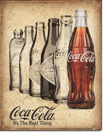 American Advertising Tin Sign - Coca Cola Real Thing