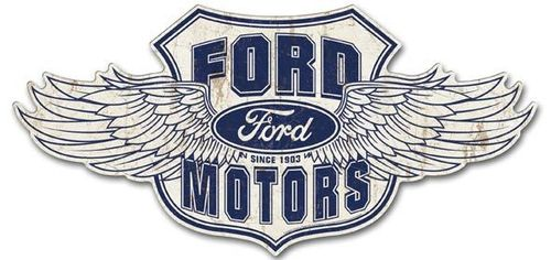 Ford Winged - LARGE Tin Sign