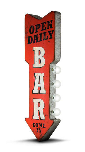 Bar Open Daily Led Two-Sided sign