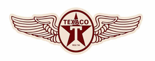 Shaped and Embossed Sign Texaco Wings