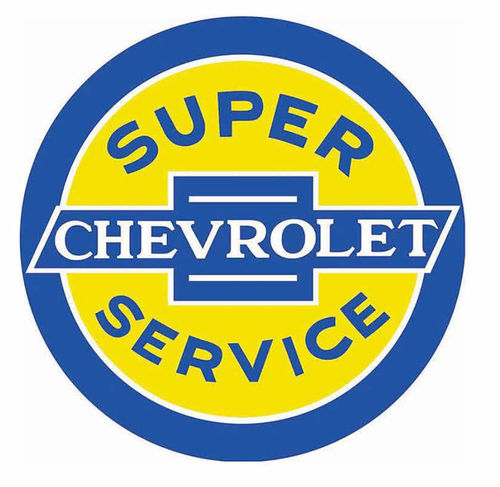 "Plaque publicitaire ""Dome"" - Chevy Super Service"