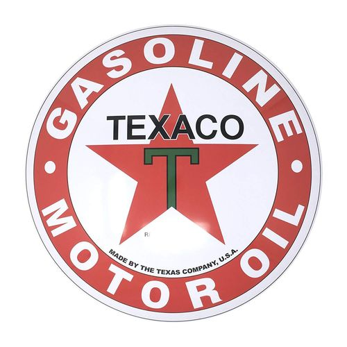Metal Domed Sign - Texaco Star