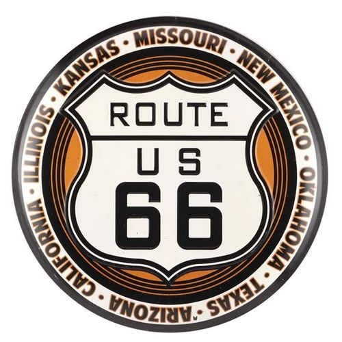 American Retro Tin Sign - Route 66 Button XL