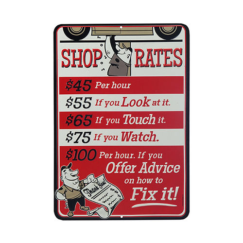 Plaque Shop Rates