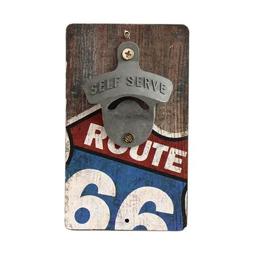 Plaque Route 66 Bottle Opener