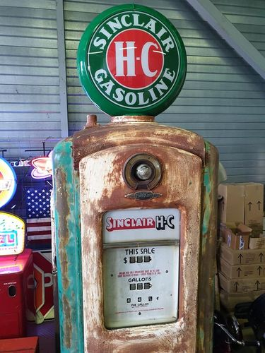 Retro Gas Pump BENNETT 646 SINCLAIR HC
