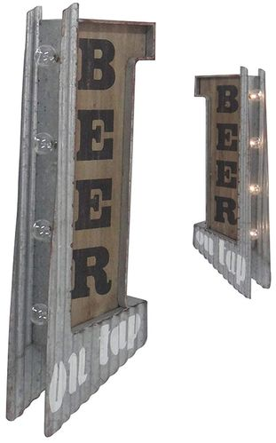 Two-Sided sign Beer off the wall