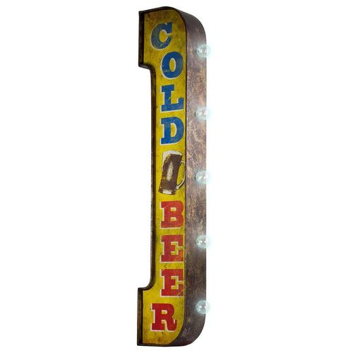 Two-Sided sign Cold Beer