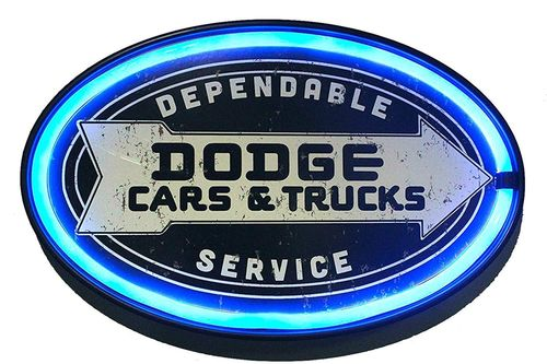 Enseigne Led Dodge Service
