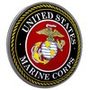 Metal Domed Sign - Marine Corps