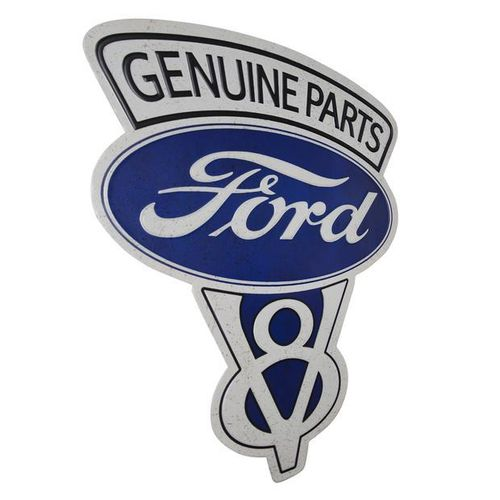 Shaped and Embossed Sign Ford Genuine Parts