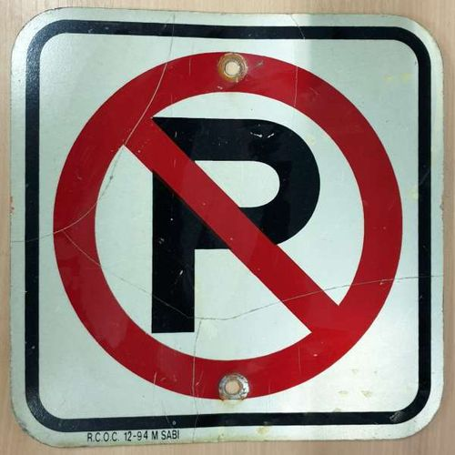No Park Road Sign