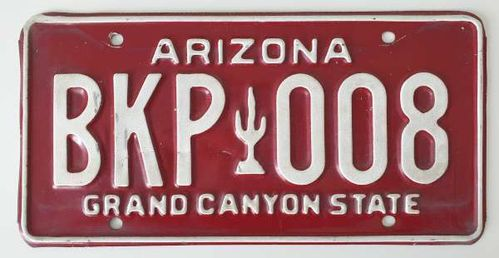 American Genuine Licence Plate - ARIZONA
