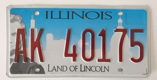 Genuine American Licence Plate - ILLINOIS