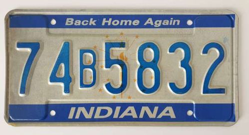 Genuine American Licence Plate - INDIANA