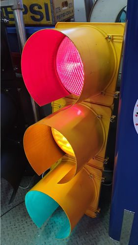 American Traffic Lights Yellow
