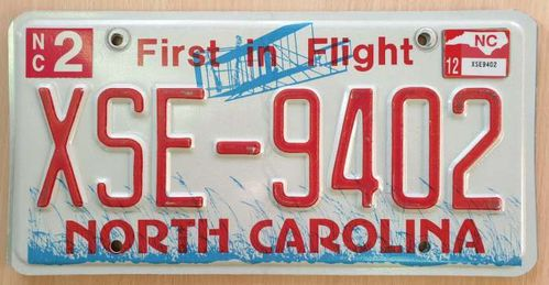 Genuine Licence Plate - USA - NORTH CAROLINA