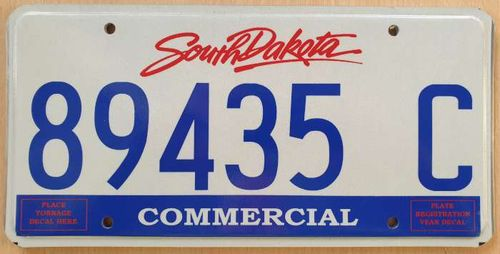 Genuine American Licence Plate - SOUTH DAKOTA