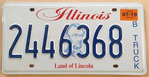 American Licence Plate - ILLINOIS