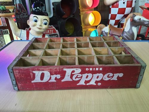 Wood Box Dr Pepper Red
